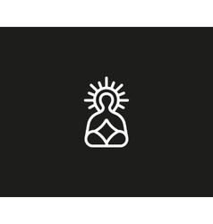 Meditation yoga linear logo design Zen balance vector image