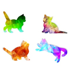 mosaic cats vector image