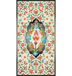 Ottoman art of illumination colorful vector image