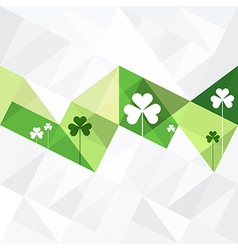 patrick day background abstract vector image vector image