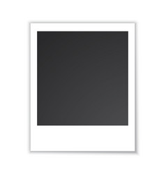 Photo frame isolated on white vector