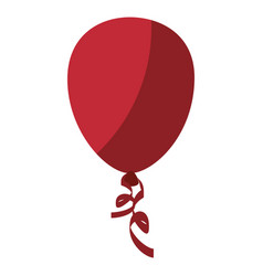 Red balloon icon vector