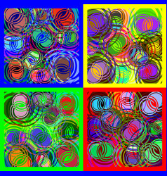 Round spiral overlapping of different colors vector