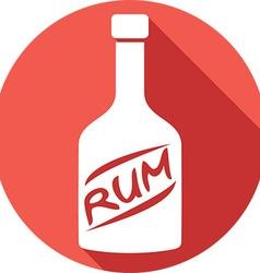 Rum icon vector