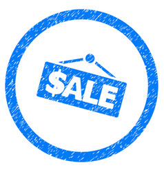 Sale signboard rounded grainy icon vector