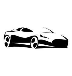 Silhouette sport car black vector