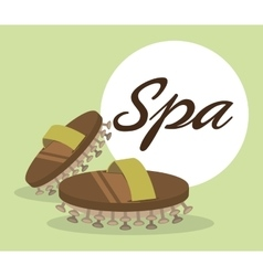 Spa center massage relaxing vector