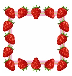 Strawberry frame vector image vector image