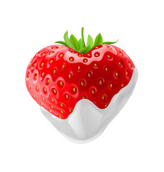 Strawberry with chocolate vector