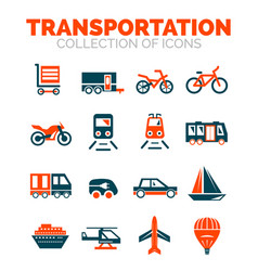 transportation premium icon set vector image