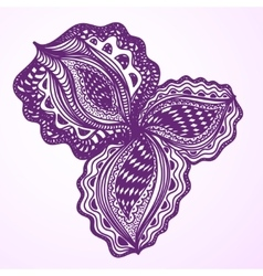 Violet abstract floral element for decorative vector image