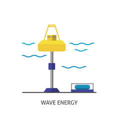 wave energy station icon in flat style vector image vector image