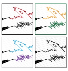 Stylized seismograms vector