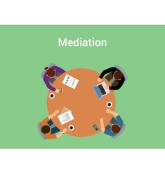 mediation concept a member team or vector image