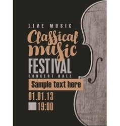 Concert of classical music vector