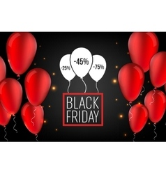 Abstract black friday sale layout vector
