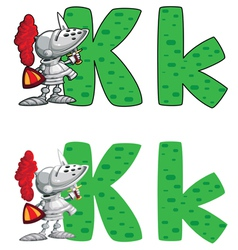 letter K knight vector image
