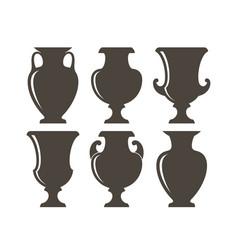 Ancient greek vases vector
