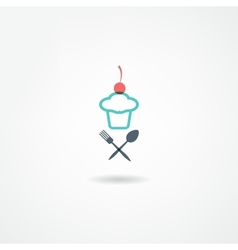 Eatery icon vector