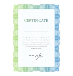 Template certificate diplomas and currency vector image