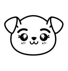 Isolated cute dog face vector