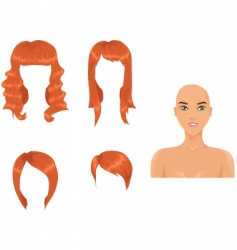red hair vector image