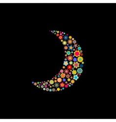 Moon shape vector