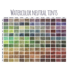 Watercolor neutral tints vector