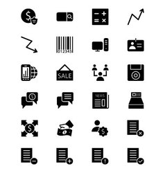 Finance solid icons 9 vector