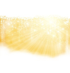 Golden sparkling christmas theme vector