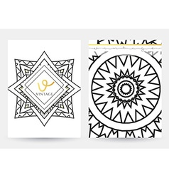 Mandala template a set of simple patterns with a vector