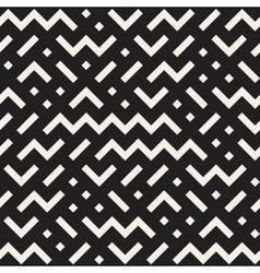 Seamless black and white jumble zigzag vector