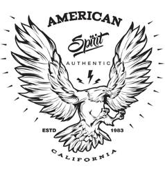 American spirit monochrome emblem vector