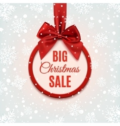 Big Christmas sale round banner vector image
