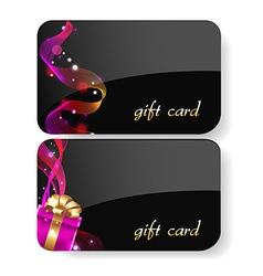 Black Gift Card Set vector image vector image