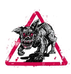 black hell dog vector image vector image