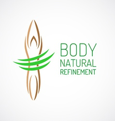 Body care logo template vector image