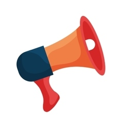 Bullhorn or megaphone colorful icon design vector