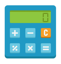 Calculate flat icon business and calculator vector