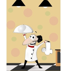 Cartoon cook vector image