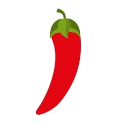 chili pepper vegetable health icon vector image vector image