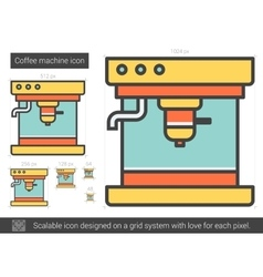 Coffee machine line icon vector image vector image