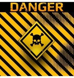 Danger sign with skull symbol vector