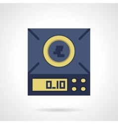 Digital scales flat color icon vector
