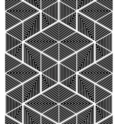 Endless monochrome symmetric pattern graphic vector image vector image