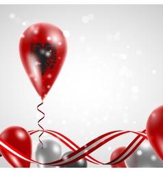 flag of Albania on balloon vector image vector image