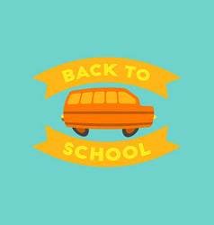 flat icon on background back to school bus vector image