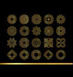 Gold mandala set vector