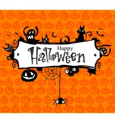 halloween frame vector image vector image