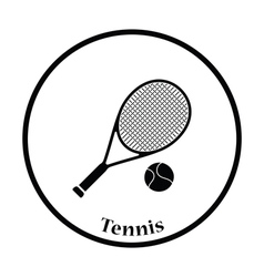 Icon of Tennis rocket and ball vector image vector image